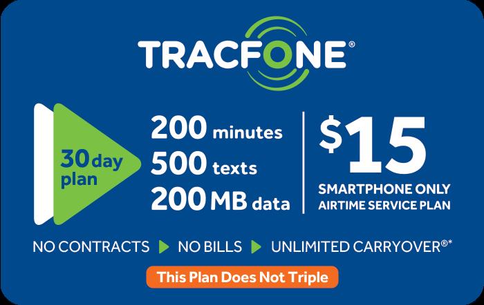 TRACFONE $15 Prepaid Phone Card (e-delivery)