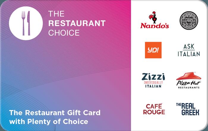 Restaurant Choice Gift Card