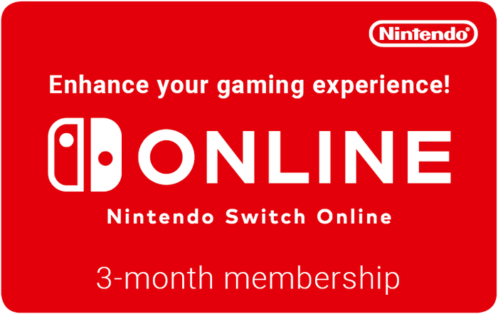 Nintendo Switch 3M 6.99GBP eGift