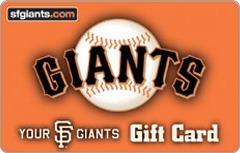 San Francisco Giants Gift Card