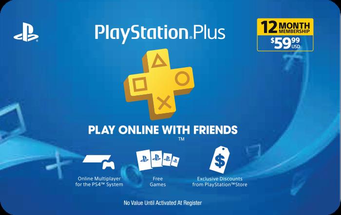 PlayStation Plus 12 Month Membership $59.99