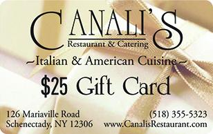 Canali's Restaurant & Catering eGift Card 25