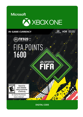 FIFA 20 ULTIMATE TEAM FIFA POINTS 1600