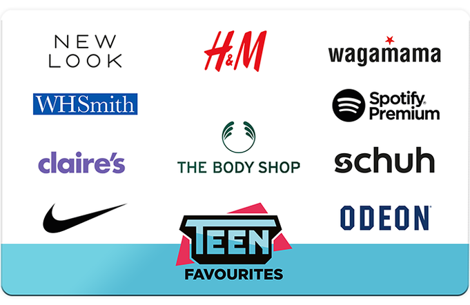 Teen Favourites Gift Card