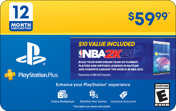 SONY 12M PS+ & NBA 2K21 BONUS (Promotion)
