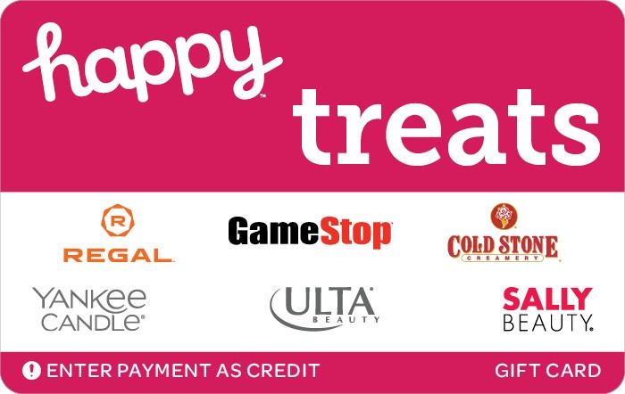 Promotion of Happy Treats Gift Card