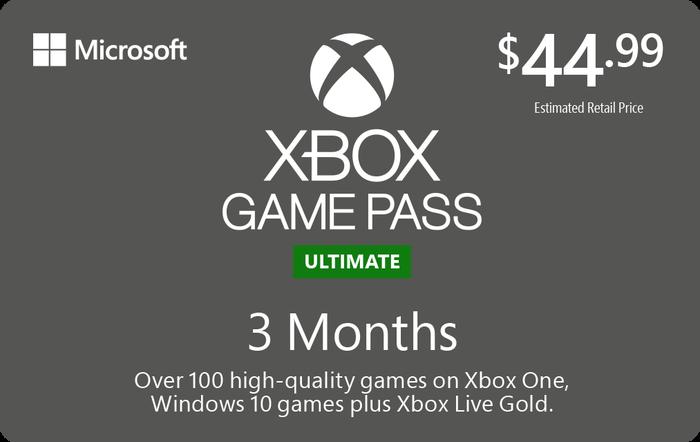 XBOX Gamepass Ultimate 3M $44.99