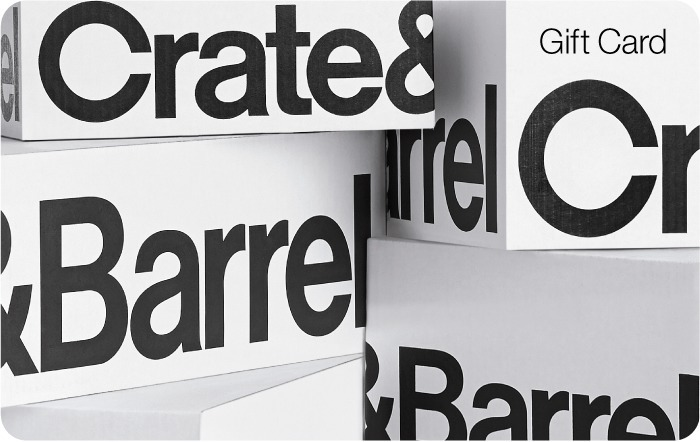 Looking to buy Crate and Barrel gift cards? Purchase egift cards and classic gift cards or check your Crate and Barrel gift card balance online.