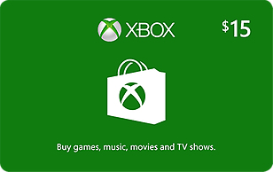 Microsoft Xbox Cash $15 eGift Card