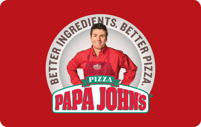 Papa Johns Pizza Gift Card