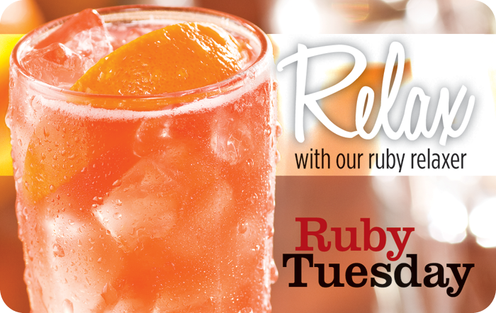 Ruby Tuesday Relax eGift