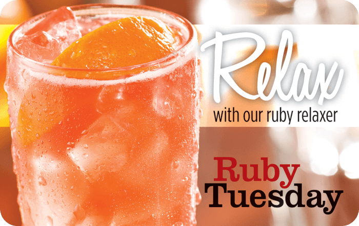 Ruby Tuesday Relax eGift Card