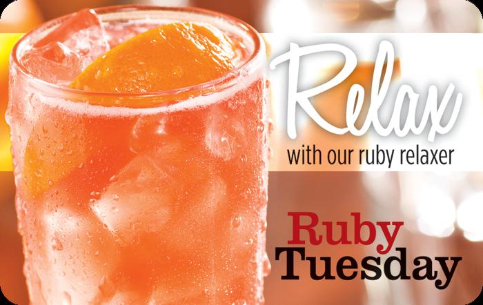 Ruby Tuesday Relax eGift
