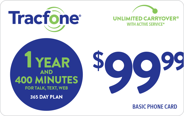 TRACFONE $99.99 Prepaid Phone Card (e-delivery)