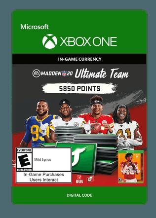 Xbox Madden 20 5850 $49.99 eGift