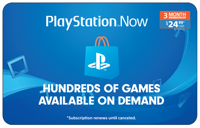 Sony PS Now 3M $24.99 eGift
