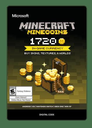 Xbox Minecraft 1720 Minecoins eGift Card