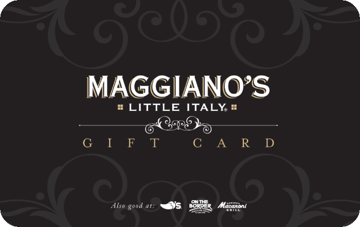 maggiano s gift card. Black Bedroom Furniture Sets. Home Design Ideas