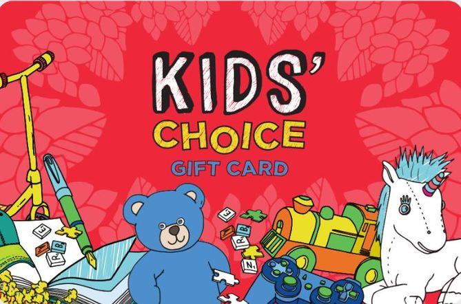 Kids Choice Gift Card