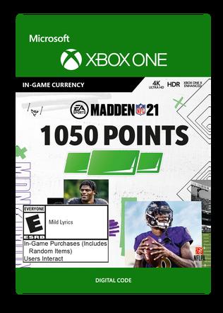 Xbox Madden 21 1050 VC $9.99 eGift