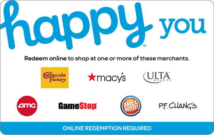 Promotion of Happy You eGift Card