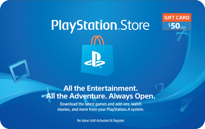 Sony PlaStation $50 Gift Card