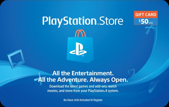 Sony PlaStation $50 Gift Card