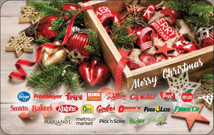 Kroger Merry Christmas Gift Card
