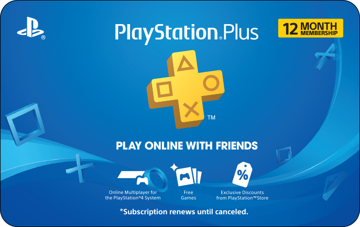 Sony PS Plus 12 Month Promotion $44.99 eGift