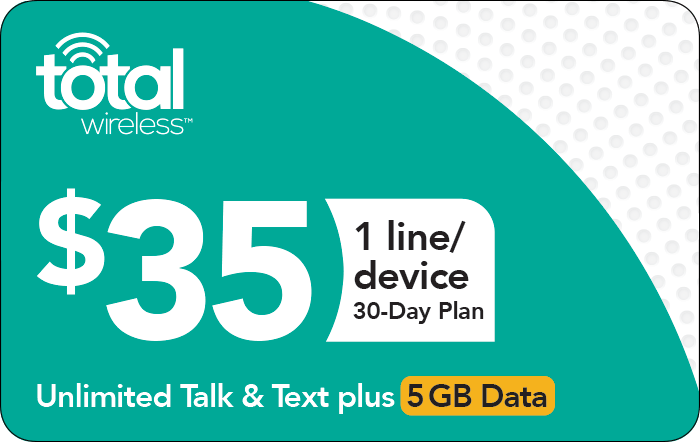 Promotion of $35 Total Wireless Prepaid Phone Card (e-delivery)