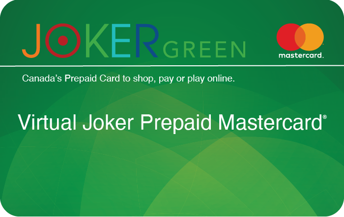 Virtual Joker Green Prepaid Mastercard