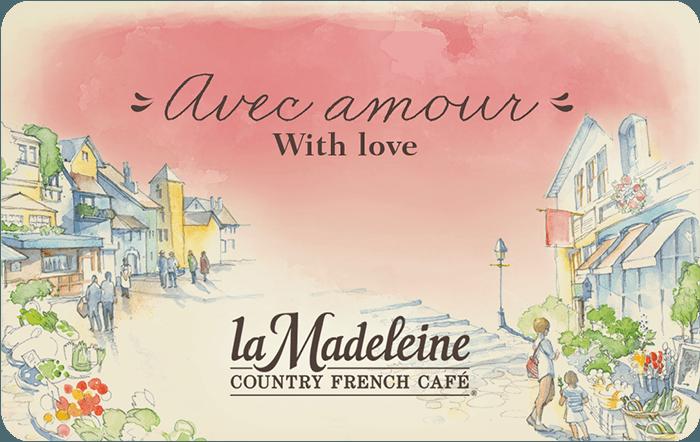 la Madeleine Country French Café eGift Card