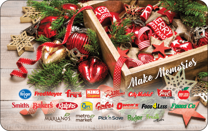 Kroger Make Memories Gift Card
