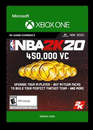 Xbox NBA 2K20 450000VC $99.99 eGift