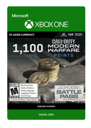 Xbox COD Modernwar 1100VC $9.99 eGift