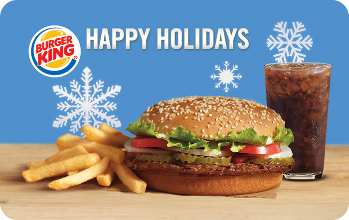 Burger King Happy Holidays Gift Card
