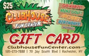 The Clubhouse Fun Center $25 eGift