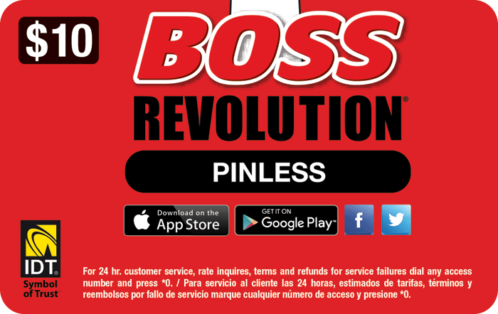 Boss Revolution Prepaid Phone Card