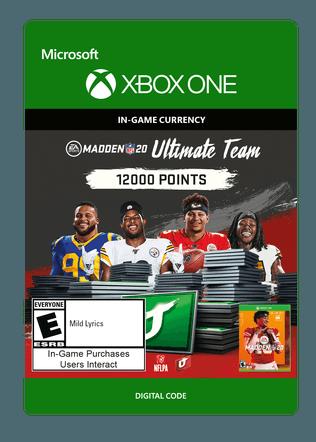 Xbox Madden 20 12000 VC $99.99 eGift