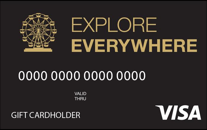 Explore Everywhere Visa Gift Card