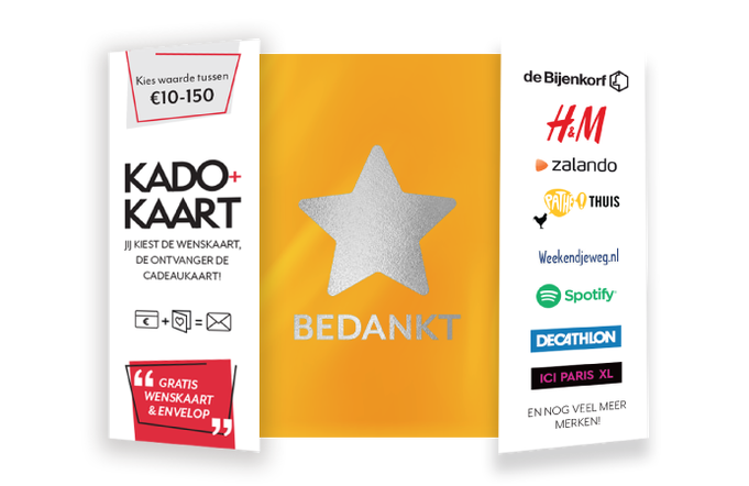 Kado+Kaart Dankjewel