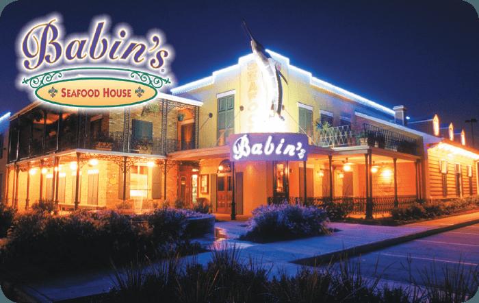 Babins Seafood House Gift Card