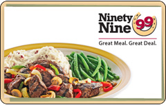 Ninety Nine Restaurant Gift Card