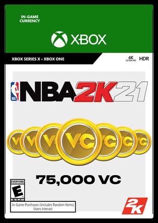 XBOX NBA 2K21 75000VC $9.99 eGift