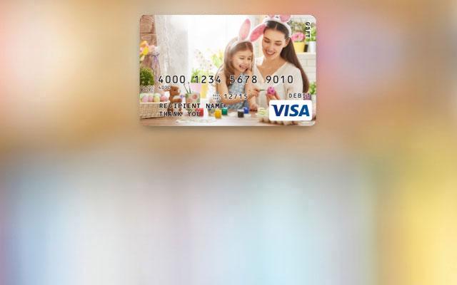custom visa gift card amount