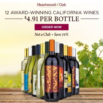 NATIONAL - NETWORK - 12 Bottles of the Golden State's Sunniest Wine - Included with your voucher