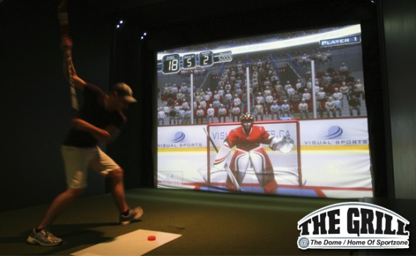 1/2 off Golf Simulator & Pizza Package at The Grill @ The Dome!