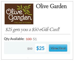 deal example - Olive Garden Huntsville