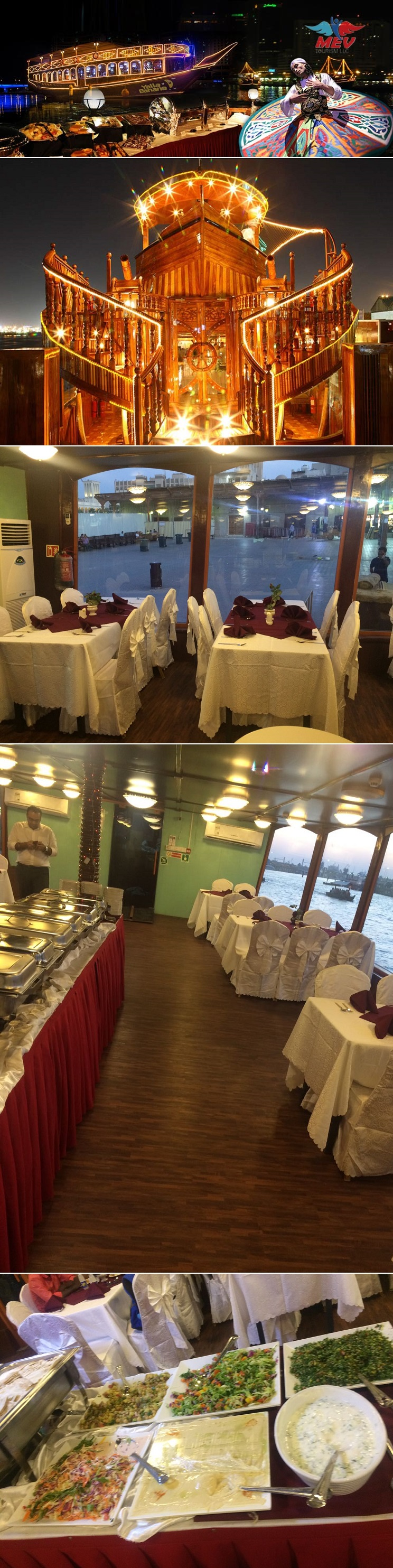 Dhow cruise dinner at creek AED 59 @Yallbanana
