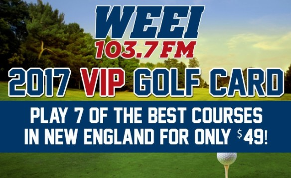 PLAY THE AREA'S BEST COURSES WITH THE WEEI VIP GOLF CARD